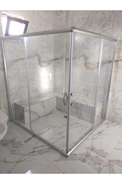Gümüş Temperli Cam Kabin Set 100x100 5mm