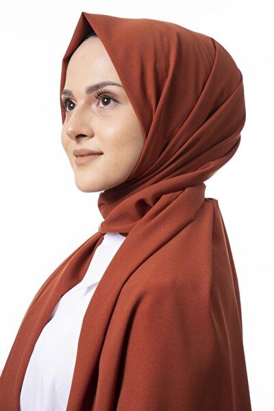 Kadın Kiremit Medine Ipeği Şal