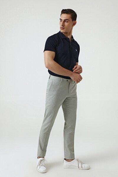 Yeşil Renk Erkek  Pantolon (Slim Fit)