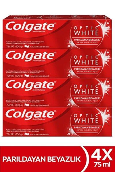 Optic White Parıldayan Beyazlık Beyazlatıcı Diş Macunu 4 X 75 ml