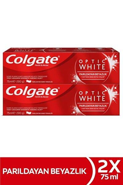 Optic White Parıldayan Beyazlık Beyazlatıcı Diş Macunu 2 X 75 ml