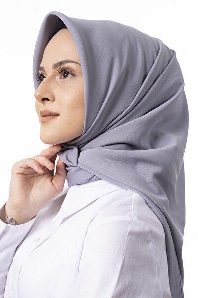 Kadın Gümüş Medine Ipeği Eşarp