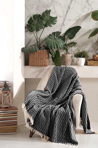 Pamuk Koltuk Örtüsü 170x210 cm Vizyon - Siyah