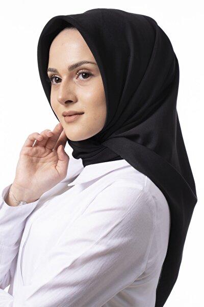 Kadın Siyah Medine Ipeği Eşarp