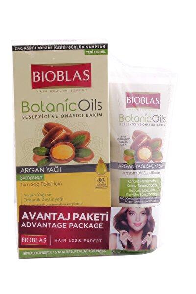 Botanic Oils Şampuan Argan Tüm Saçlar 360 ml+Saç Kremi 200 ml