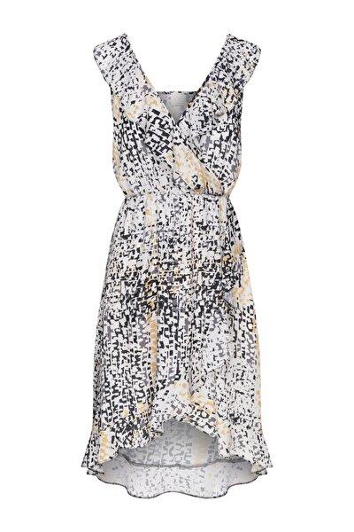Kadın Beyaz Askılı Mini Elbise
