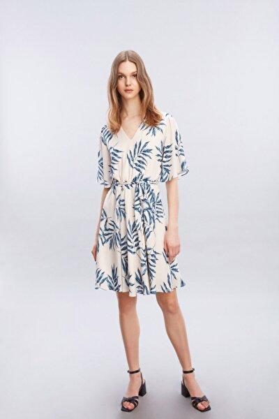 Yaprak Prıntli Elbise