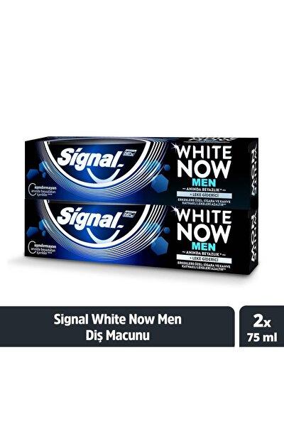White Now Men Anında Beyazlık + Leke Giderici Diş Macunu 75 ml X2