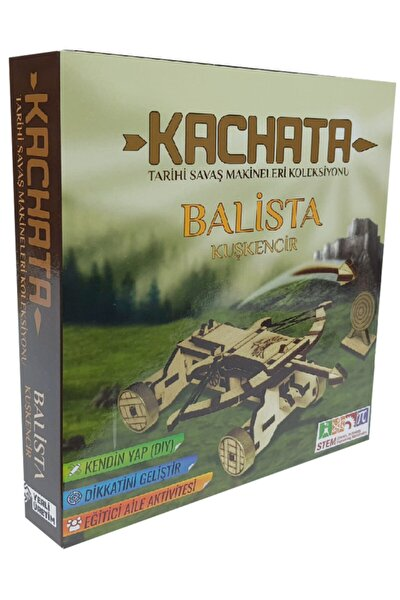 Kachata Balista Kuşkencir 3d Ahşap Puzzle Yapboz