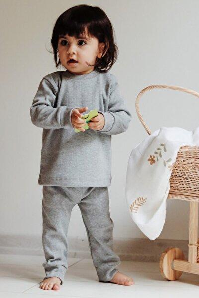 Unisex Bebek Gri Takım