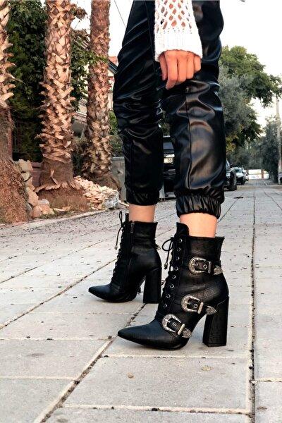 Siyah Kadın Bot & Bootie