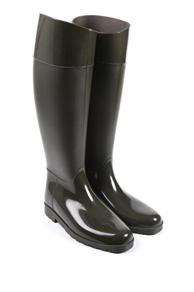 Kadın Haki Yağmur Çizmesi 33002