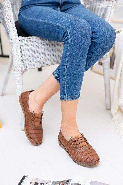 Kadın Kahverengi Ortopedik Pedli Ayakkabı