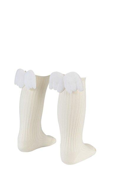 Melek Kanadı Dizaltı Çorap Kız Çocuk / Bebek