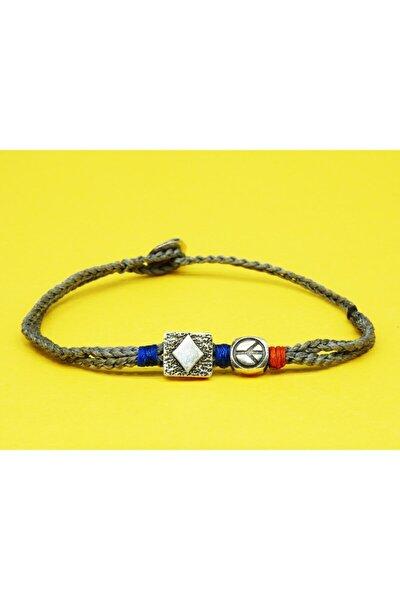 Unisex Babylon Gümüş Sembolik Bileklik