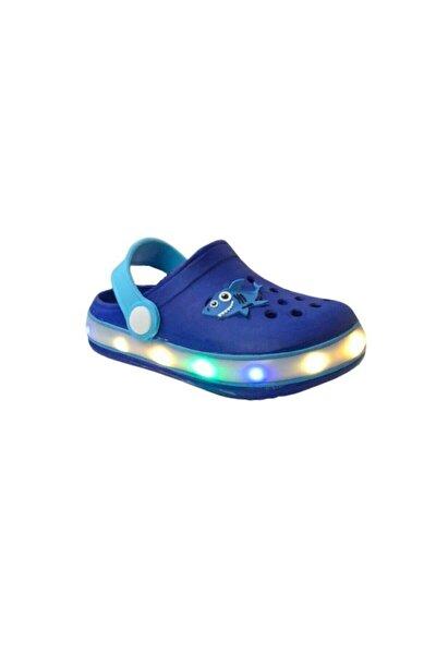 E196 B.030 Saks Mavi Işıklı Çocuk Havuz/deniz Terlik Sandalet