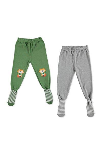 Erkek Bebek Yeşil 2li Çoraplı Pijama Pantolon