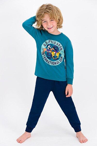 U.s. Polo Assn Lisanslı Petrol Erkek Çocuk Pijama Takımı