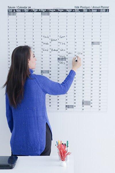 Zaman Sınırlaması Olmayan Yıllık Takvim Mıknatıslı Statik Tutunan Akıllı Kağıt-silgili Tahta Kalemi