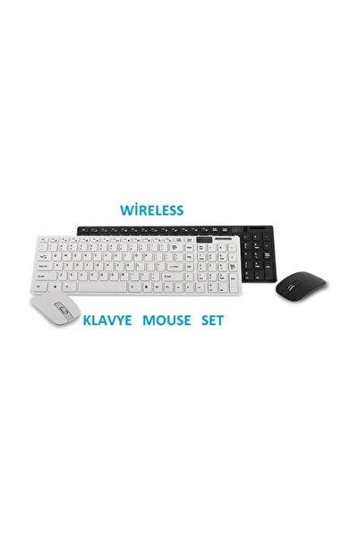 Kablosuz Klavye Mouse Seti 2.4 Ghz Wireless Tv Pc Uyumlu Pl-374
