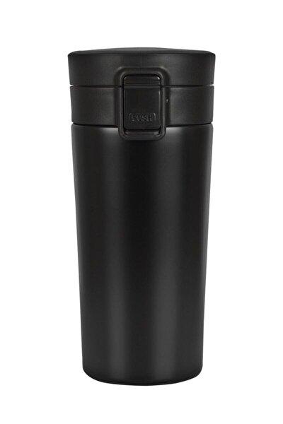 Kaliteli Paslanmaz Çelik Çift Katman Katman Kahve Fincanı Araç 380 ml Termos Bardak Siyah