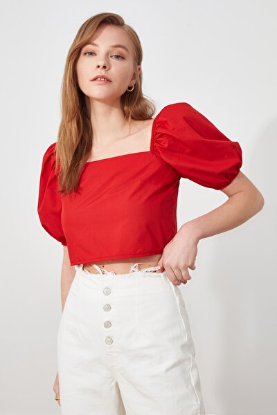 Kırmızı Gipeli Bluz TWOSS21BZ0877