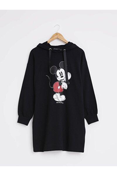 Mickey Mouse Kadın Yeni Siyah Cvl Elbise