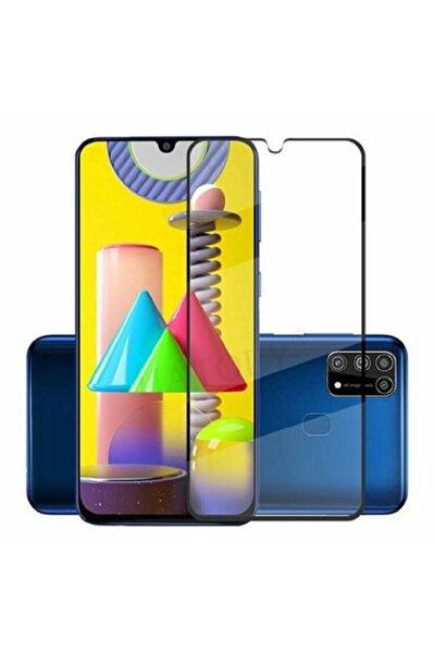 Samsung Galaxy M31s Kavisli Full Kaplayan Polikarbon 360 Cover Kırılmaz Cam