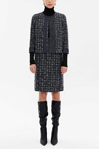Kadın Mavi Bol Kesim Ceket