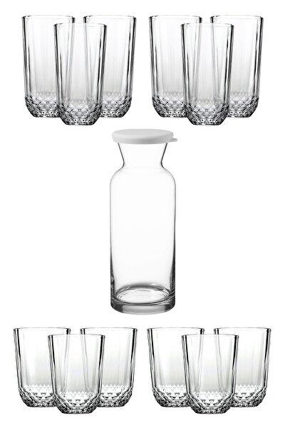 13 Parça İçecek Keyfi Seti 6 Diony Su Bardağı 6 Diony Meşrubat Bardağı 1 Village Karaf Sürahi