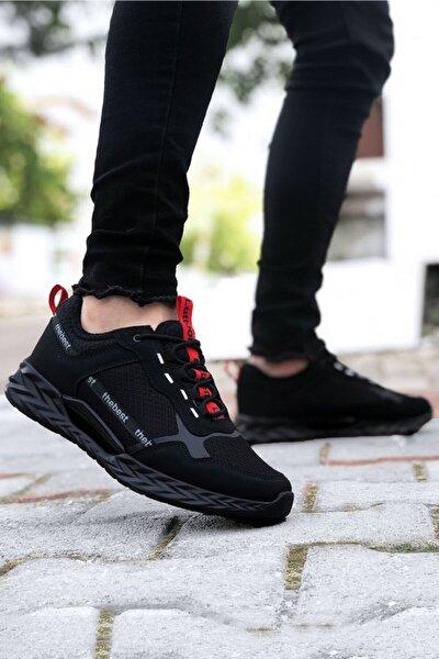 Siyah Kırmızı Erkek Spor Ayakkabı