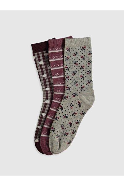 Kadın Gri Melanj Ct3 Çorap 0W6045Z8
