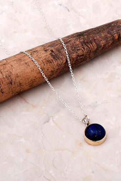 Lapis Lazuli Elişi Trend Gümüş Kolye 6937