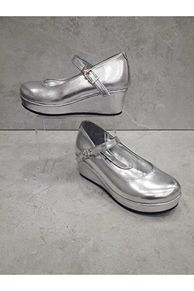 Kız Çocuk Gümüş Abiye Ayakkabı