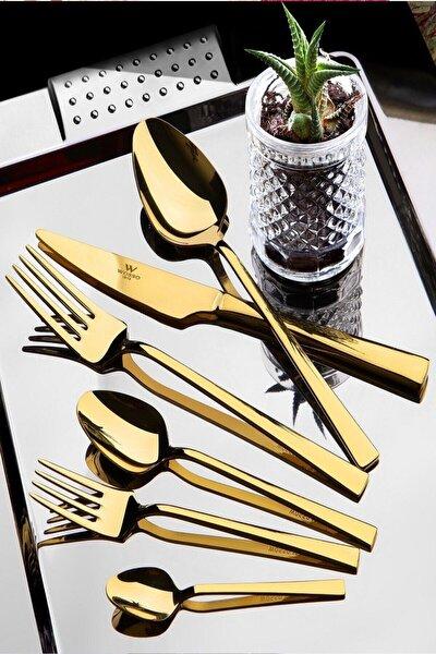 Gold Çelik 36 Parça Çatal Kaşık Bıçak Seti