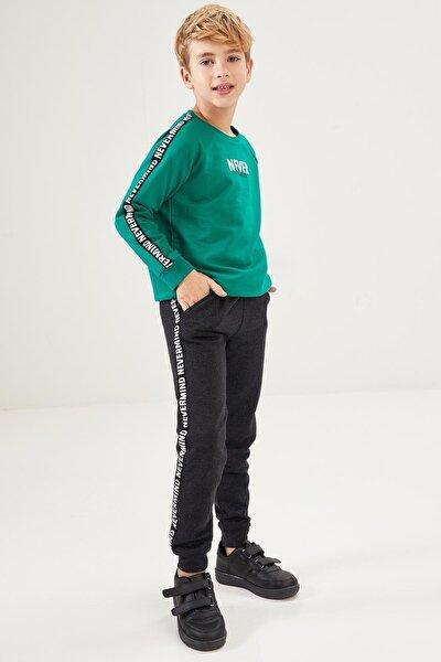 Erkek Çocuk Baskılı Sweatshirt Ve Jogger Eşofman Takım