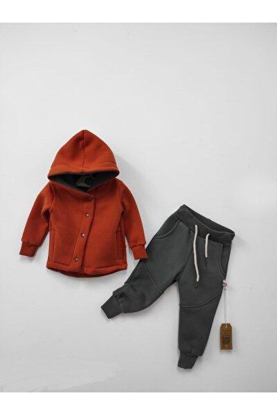 Unisex Bebek Kiremit Eşofman Takımı