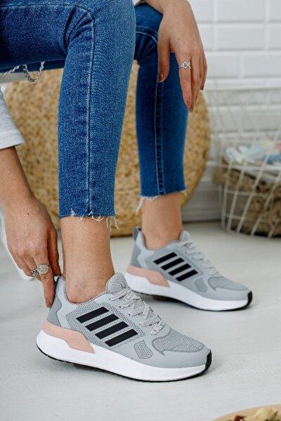Kadın Gri Pudra Spor Ayakkabı 6005