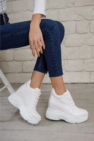 Kadın Beyaz Baweq Dolgu Spor Ayakkabı