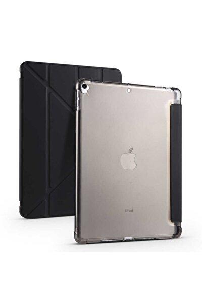 Apple Ipad Uyumlu 10.2 Inc 8. Nesil Kılıf Kalemlikli Premium Standlı Katlanabilir Kılıf Trifolding