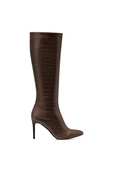 KAREN-CR Kahverengi Kadın Ökçeli Çizme 100581991