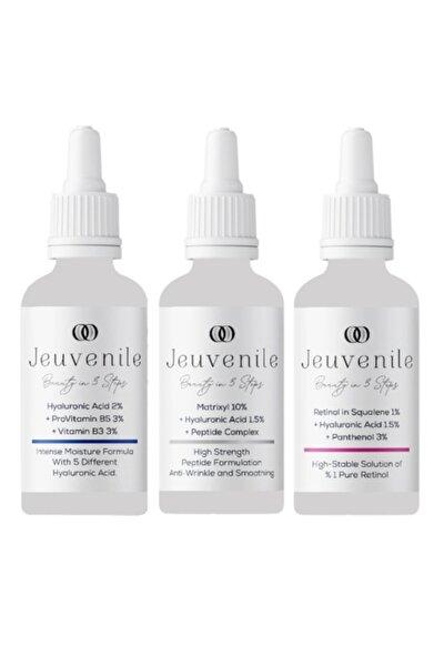 Anti-age 3'lü Serum Seti - Hyaluronic Acid %2 + Matrixyl %10 + Retinol In Squalene %1