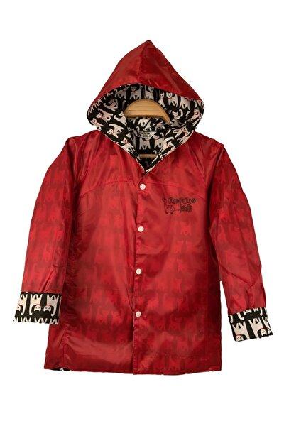 Unisex Çocuk Kırmızı Yağmurluk Rüzgarlık