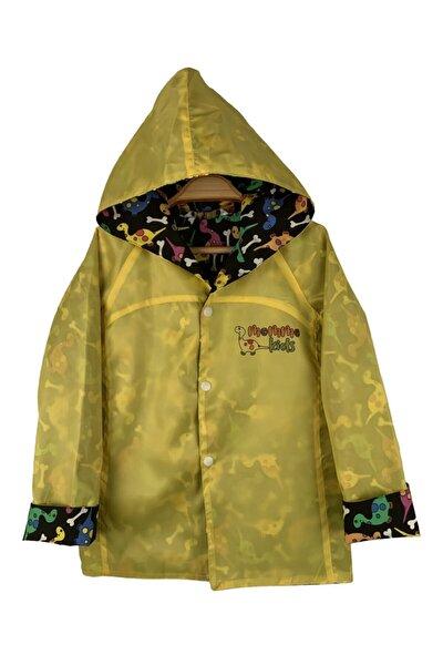 Unisex Çocuk Sarı Yağmurluk Rüzgarlık