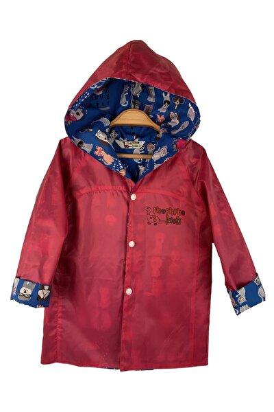 Unisex Çocuk Mavi Pembe Yağmurluk Rüzgarlık