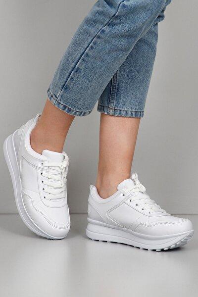 Beyaz Kadın Sneaker 34718