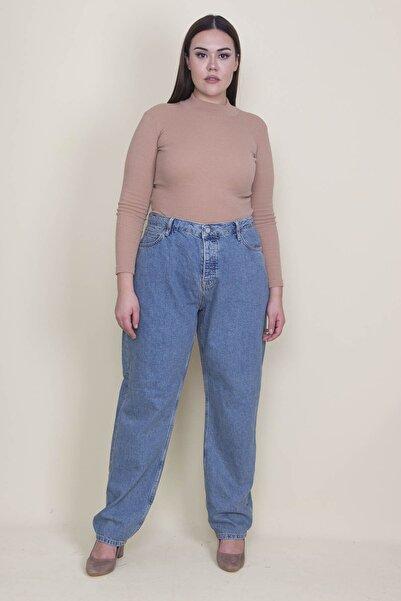 Kadın Mavi Rahat Kesim 5 Cepli Kot Pantolon 65N21309