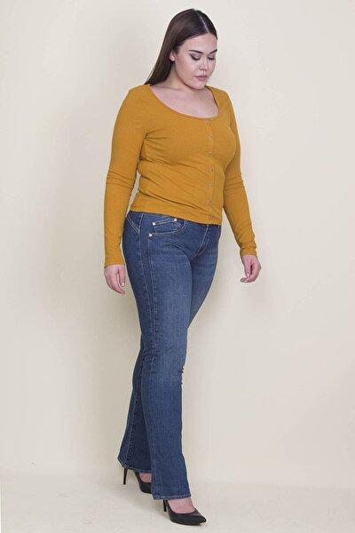 Kadın Lacivert 5 Cepli Kot Pantolon 65N21313