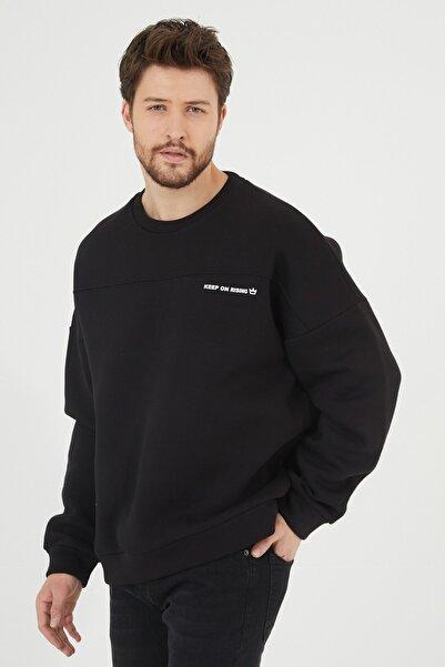 Siyah Baskılı Sweatshirt 1kxe8-44447-02
