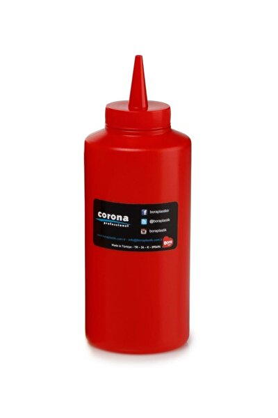 Bo2103 Ketçap Mayonez Şişe Kapaklı 420 Ml Kırmızı